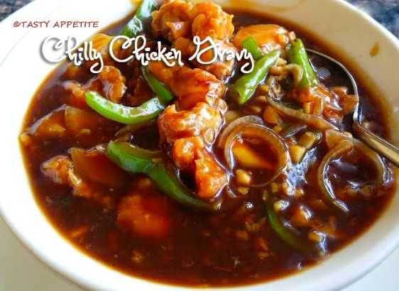 Chilly Chicken Gravy Tasty Appetite
